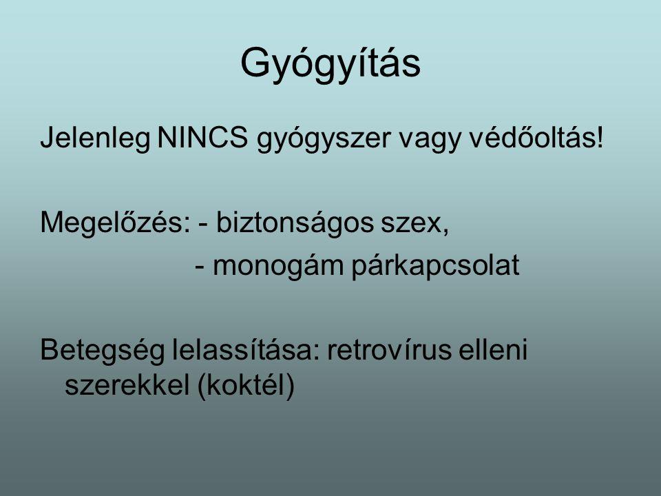 Gyógyítás Jelenleg NINCS gyógyszer vagy védőoltás!