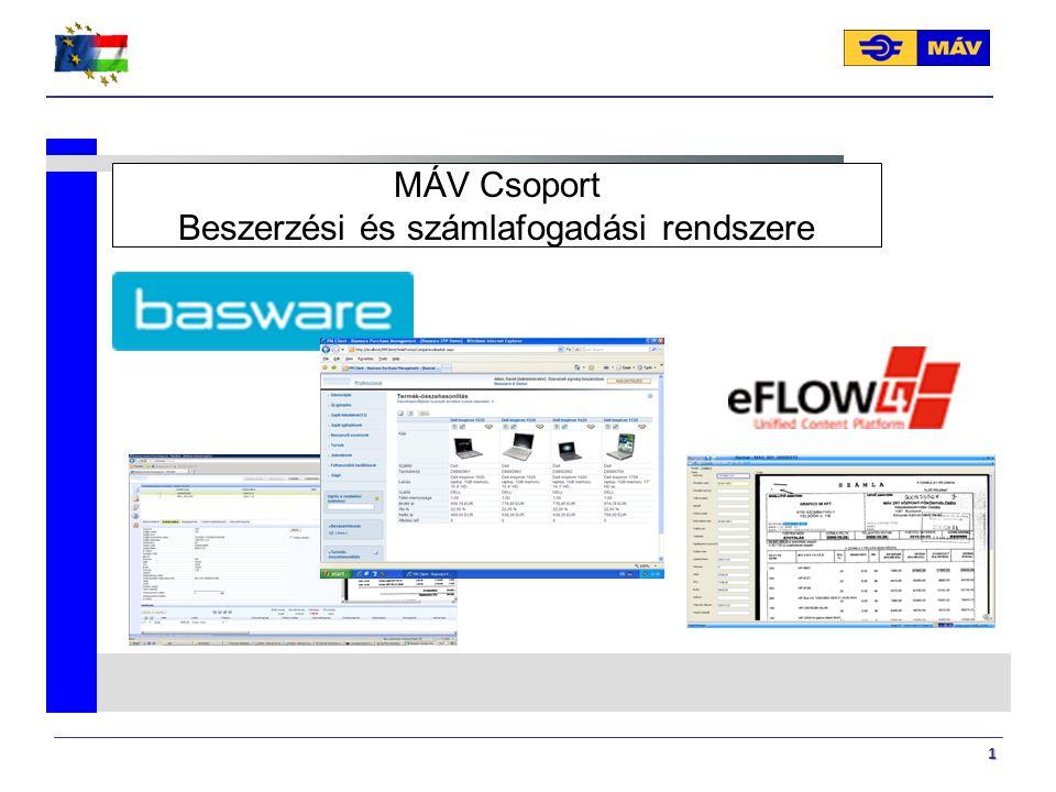 MÁV Csoport Beszerzési és számlafogadási rendszere