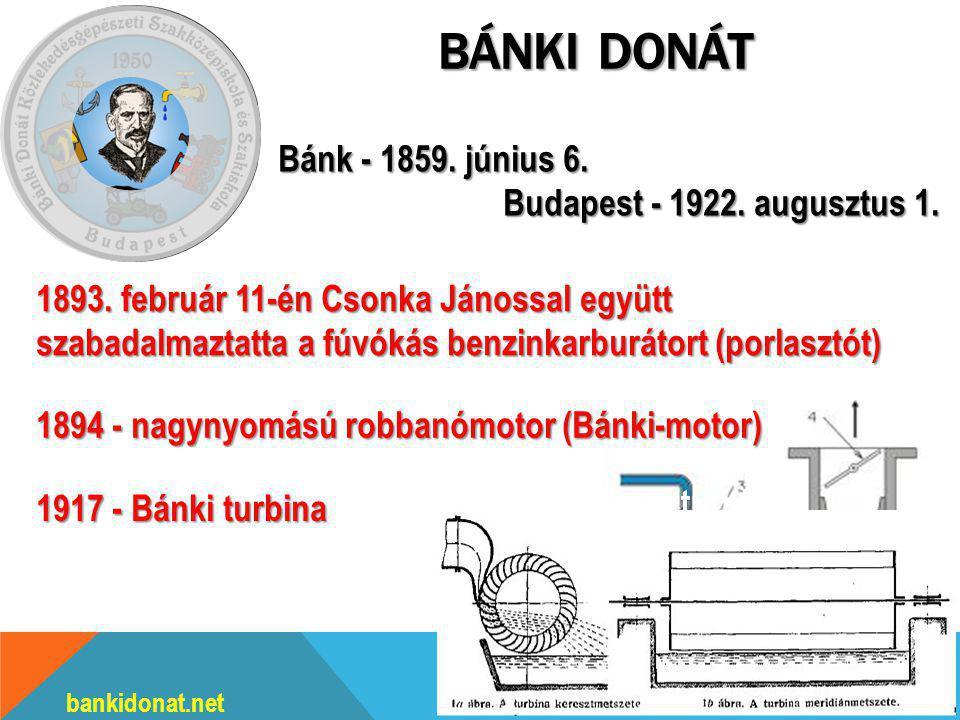 Bánki Donát Bánk - 1859. június 6. Budapest - 1922. augusztus 1.