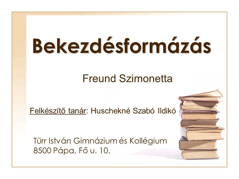 Türr István Gimnázium és Kollégium 8500 Pápa, Fő u. 10.