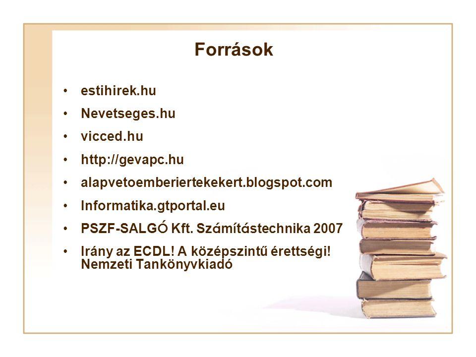 Források estihirek.hu Nevetseges.hu vicced.hu http://gevapc.hu