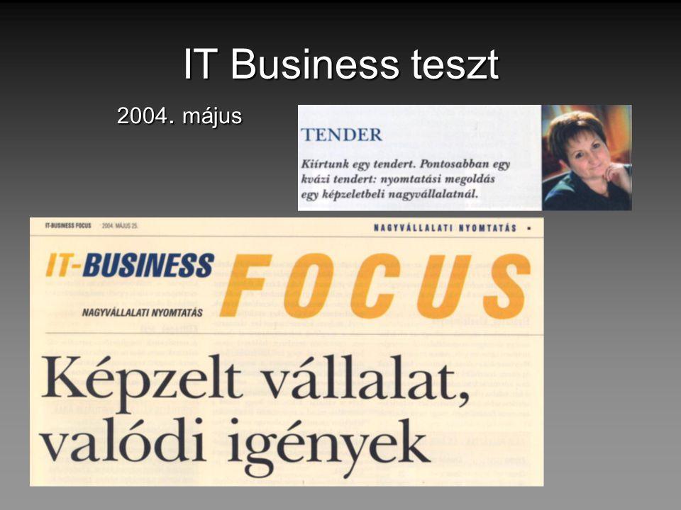 IT Business teszt 2004. május
