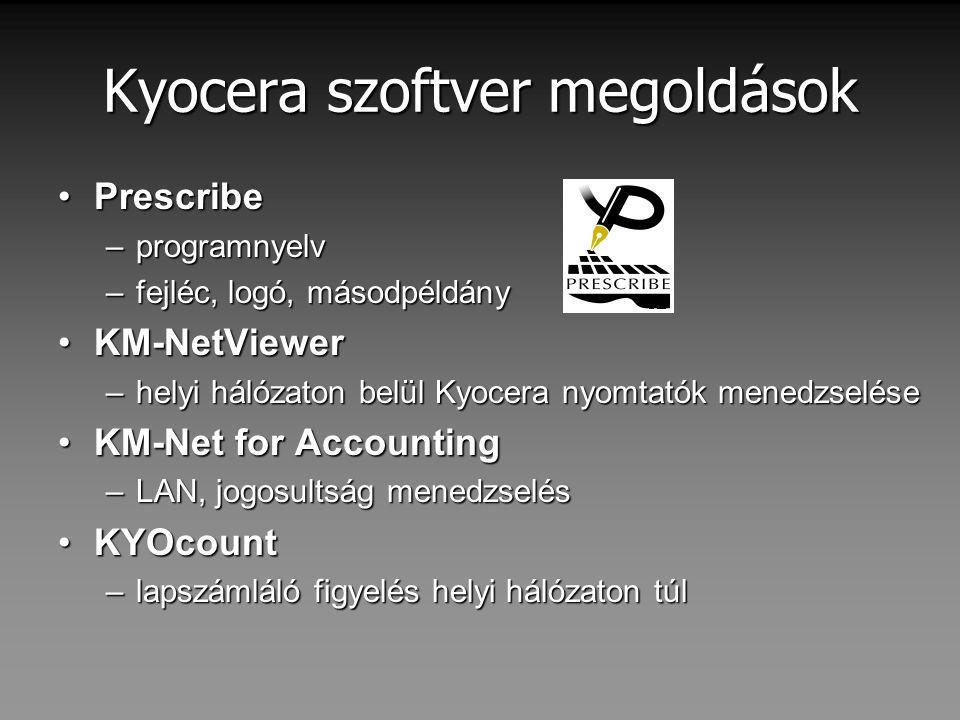 Kyocera szoftver megoldások