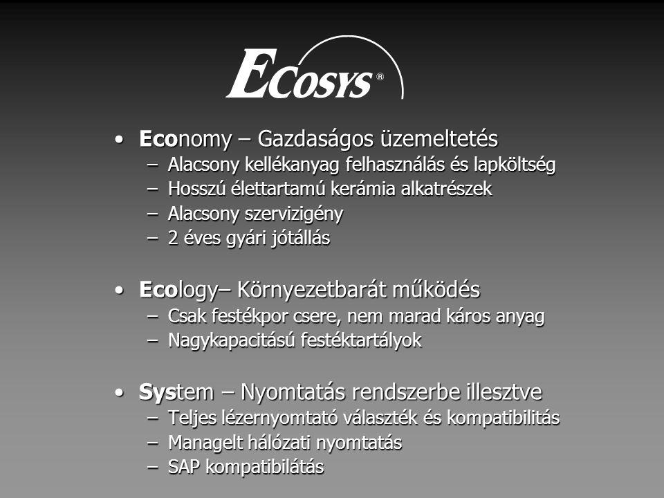 Economy – Gazdaságos üzemeltetés