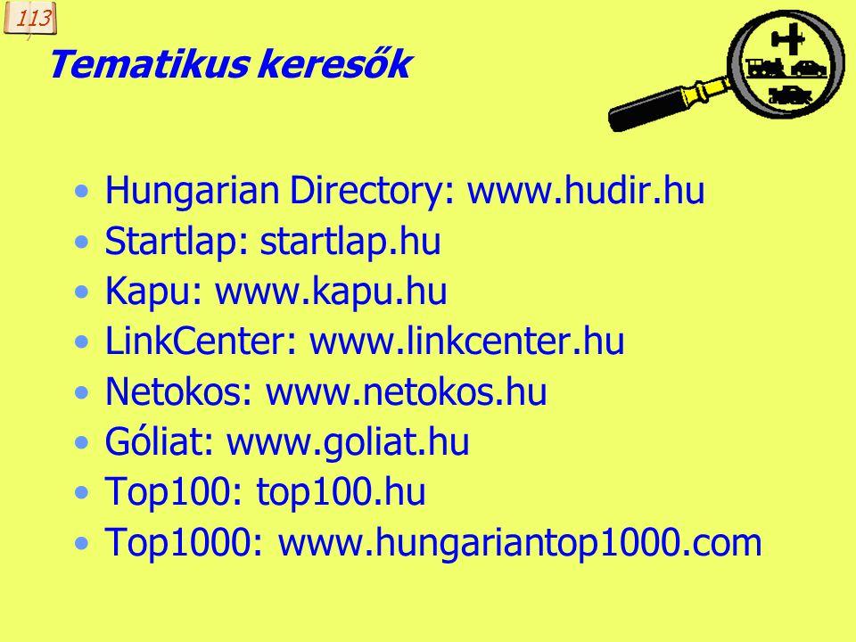 Hungarian Directory: www.hudir.hu Startlap: startlap.hu