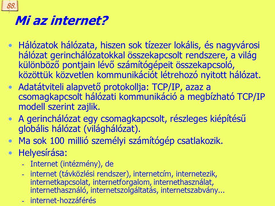 88. Mi az internet