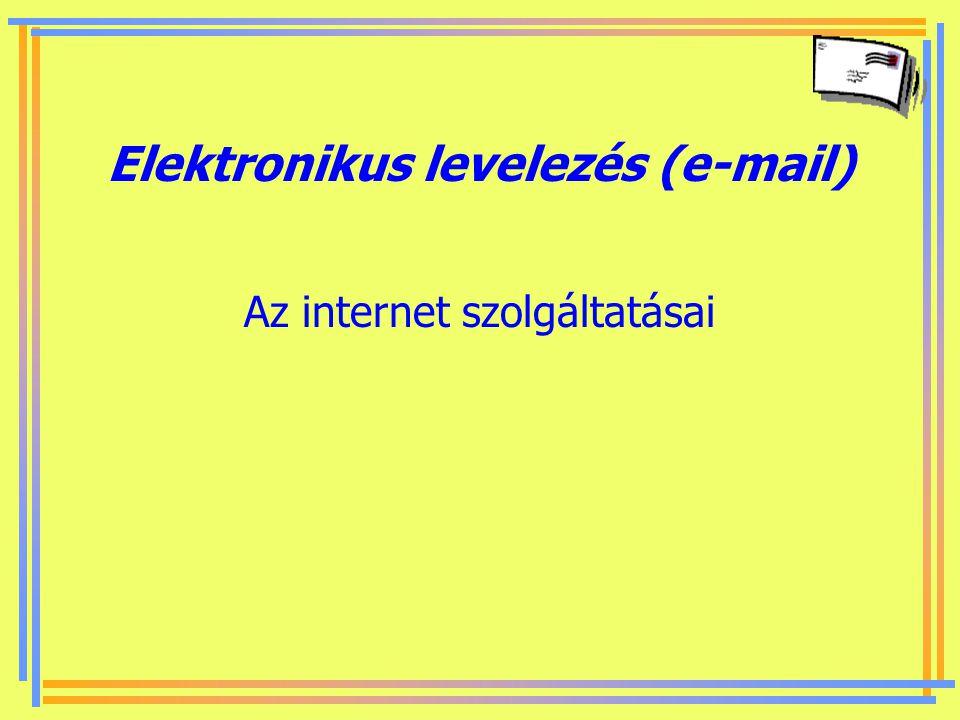 Elektronikus levelezés (e-mail)
