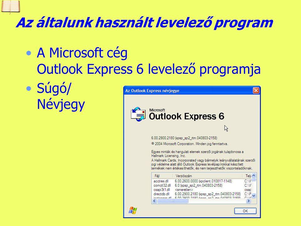 Az általunk használt levelező program