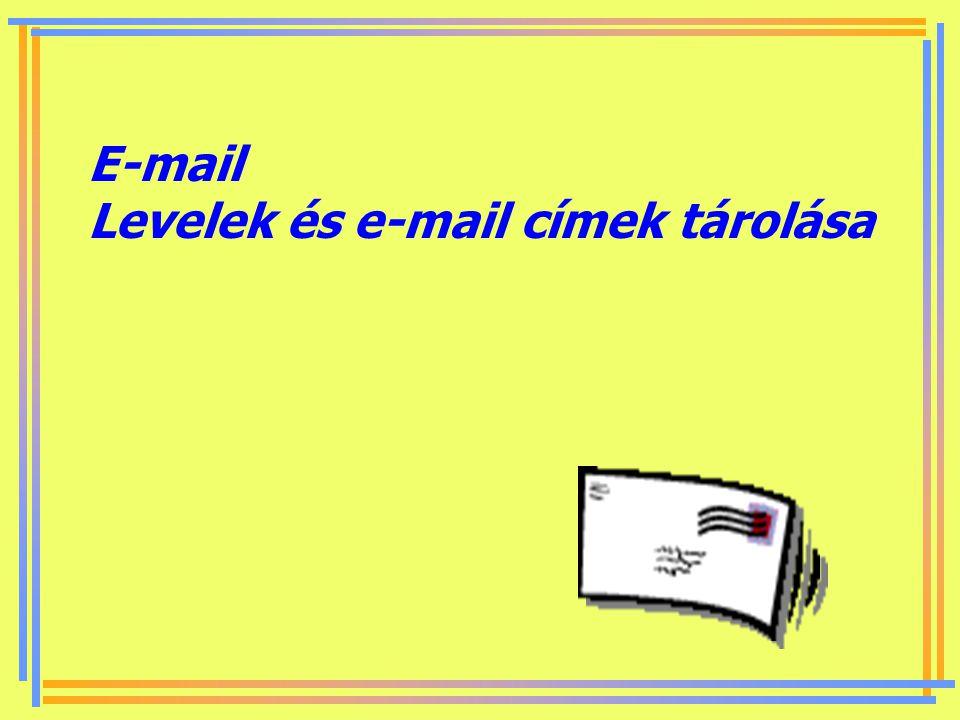 E-mail Levelek és e-mail címek tárolása