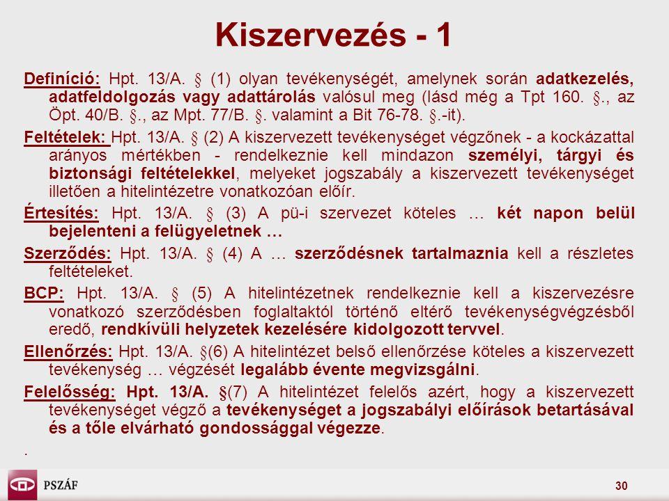 Kiszervezés - 1