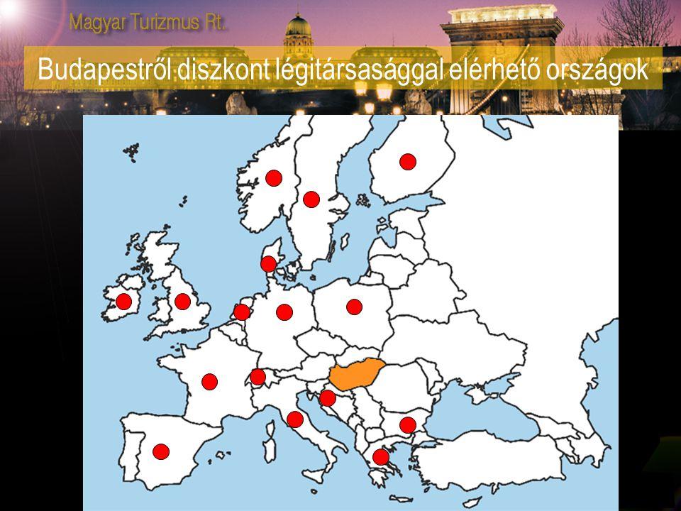 Budapestről diszkont légitársasággal elérhető országok