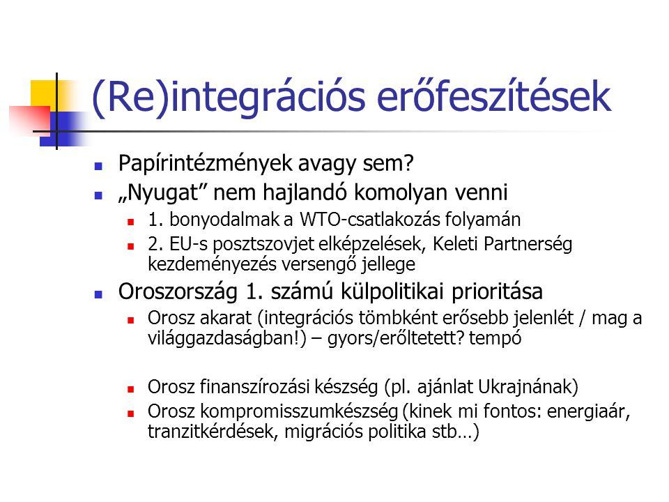(Re)integrációs erőfeszítések