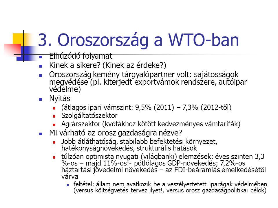 3. Oroszország a WTO-ban Elhúzódó folyamat