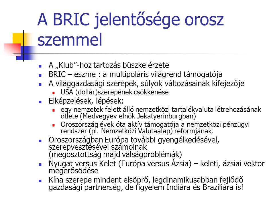 A BRIC jelentősége orosz szemmel