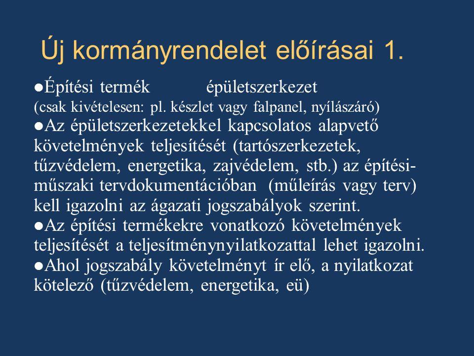 Új kormányrendelet előírásai 1.