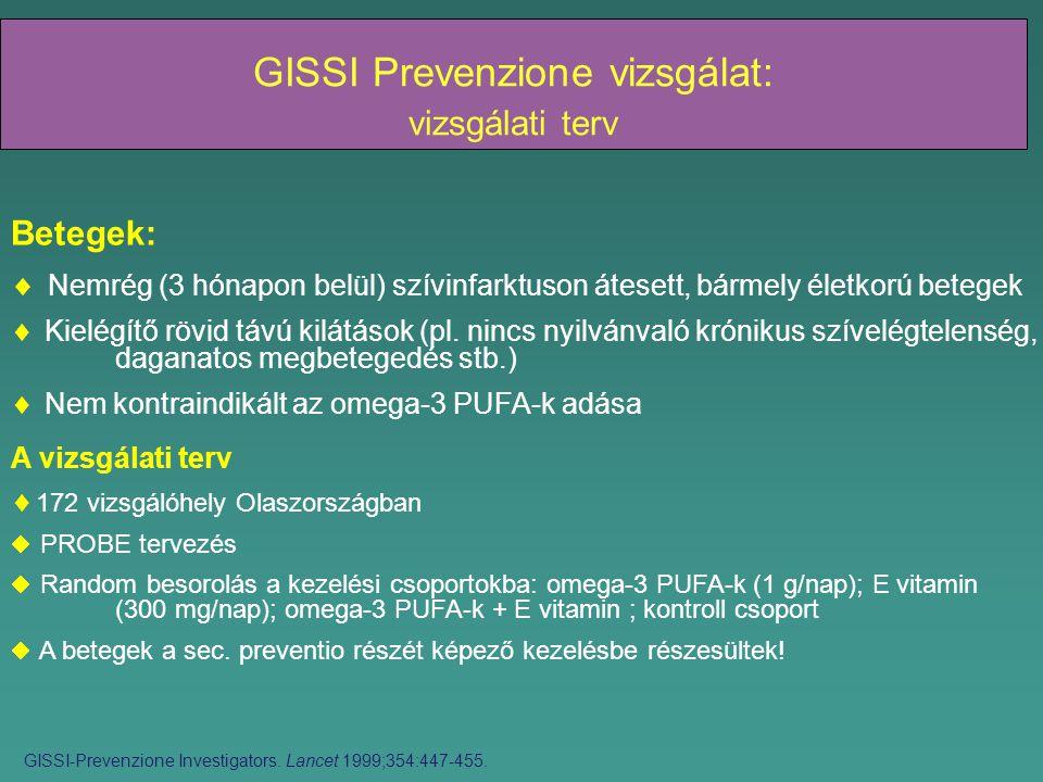 GISSI Prevenzione vizsgálat: vizsgálati terv