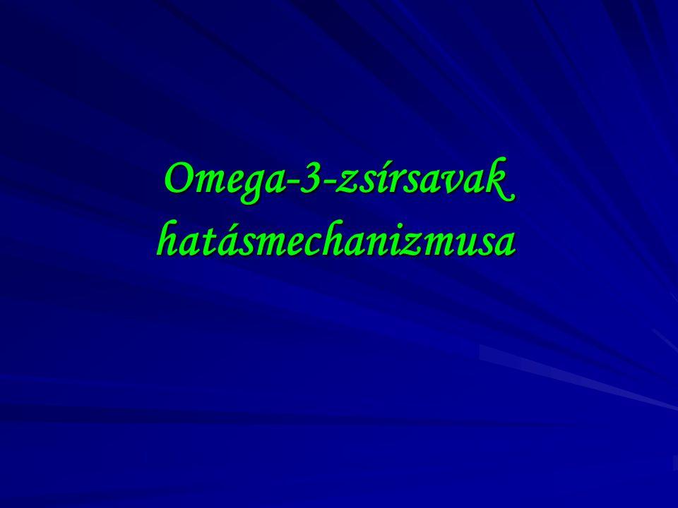 Omega-3-zsírsavak hatásmechanizmusa