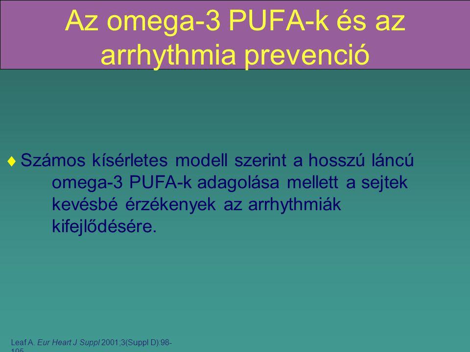 Az omega-3 PUFA-k és az arrhythmia prevenció