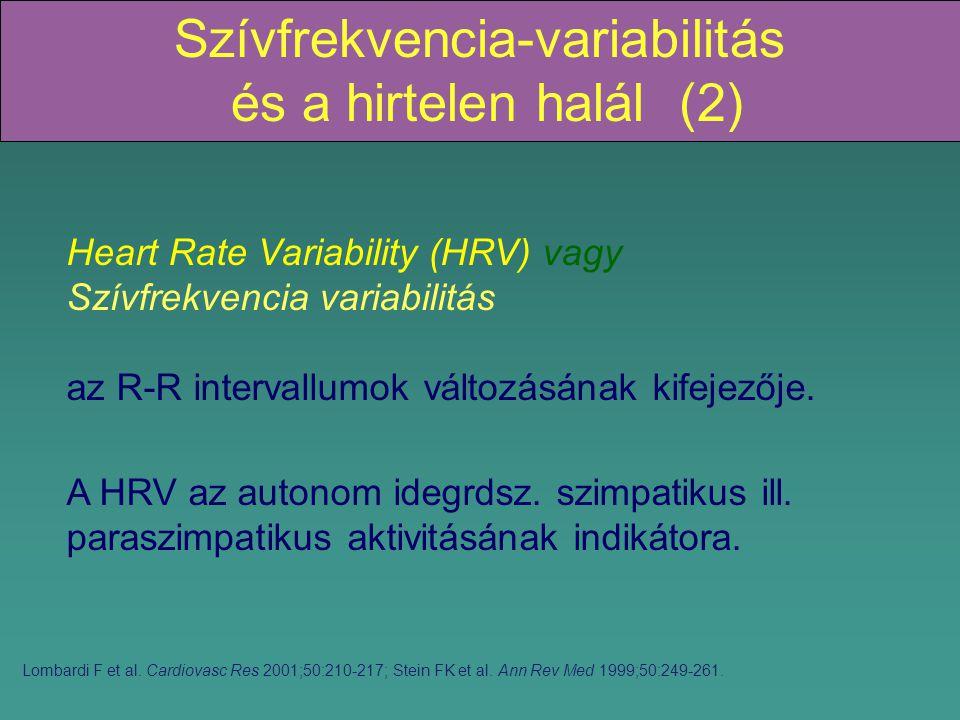 Szívfrekvencia-variabilitás és a hirtelen halál (2)