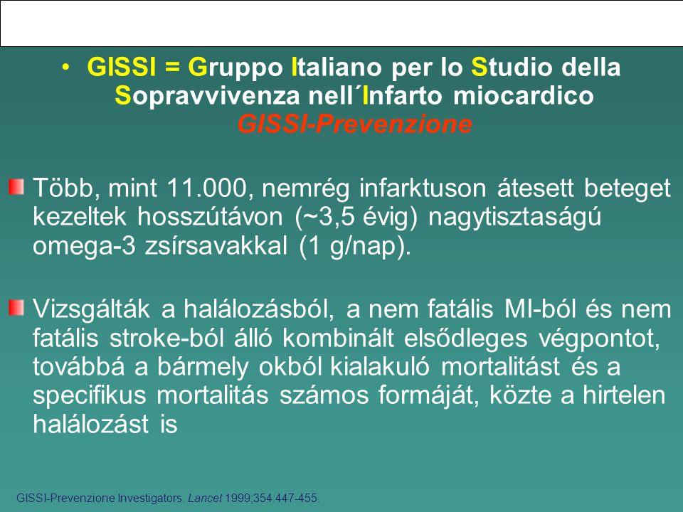 GISSI = Gruppo Italiano per lo Studio della Sopravvivenza nell´Infarto miocardico GISSI-Prevenzione