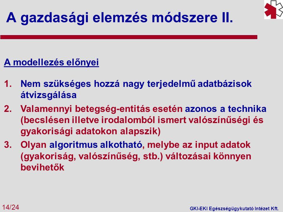 A gazdasági elemzés módszere II.