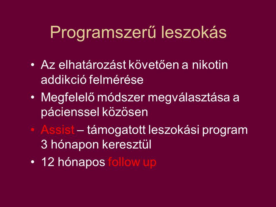 Programszerű leszokás