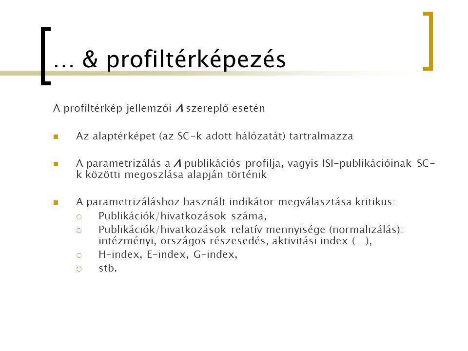… & profiltérképezés A profiltérkép jellemzői A szereplő esetén