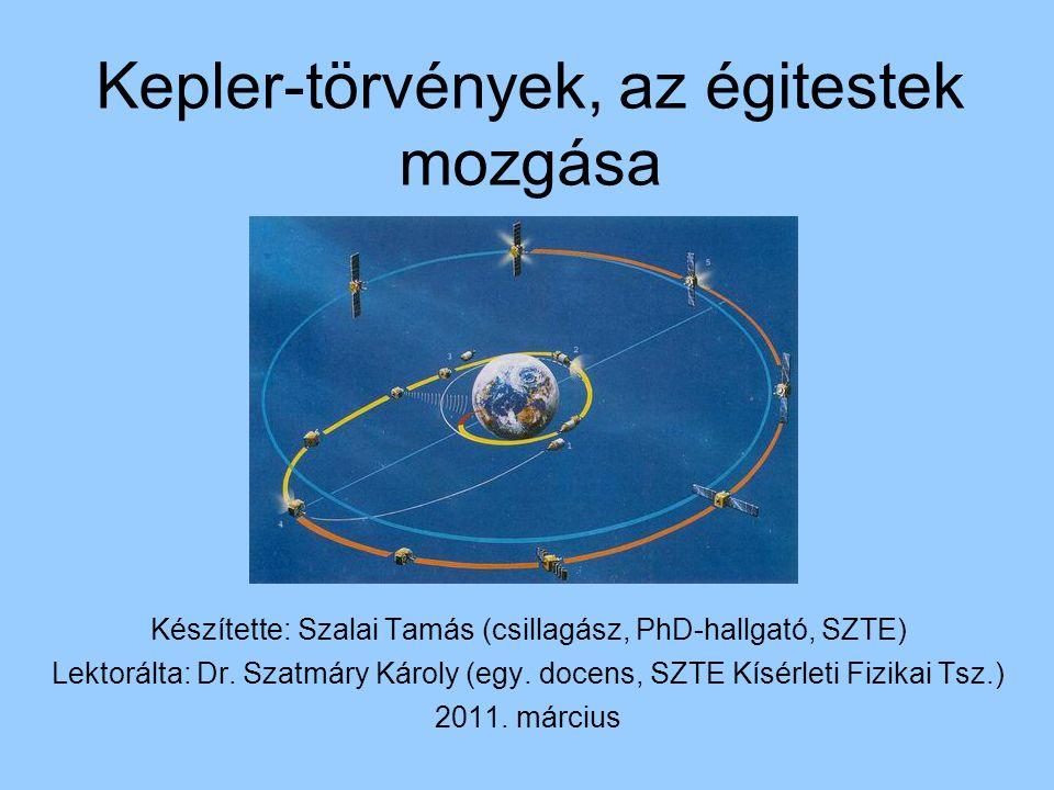 Kepler-törvények, az égitestek mozgása