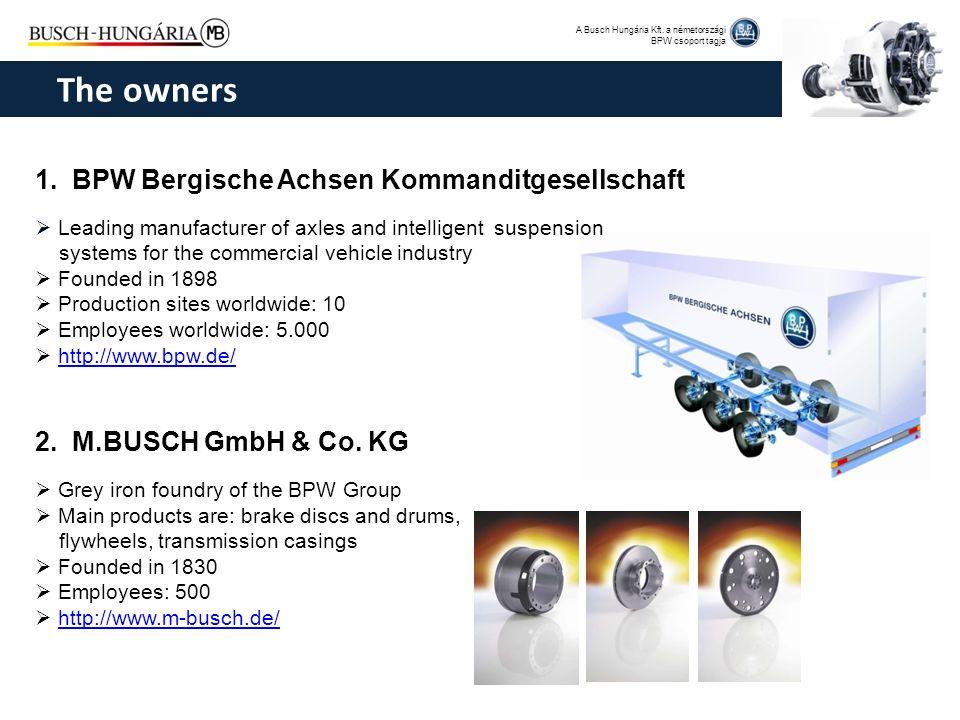 The owners 1. BPW Bergische Achsen Kommanditgesellschaft