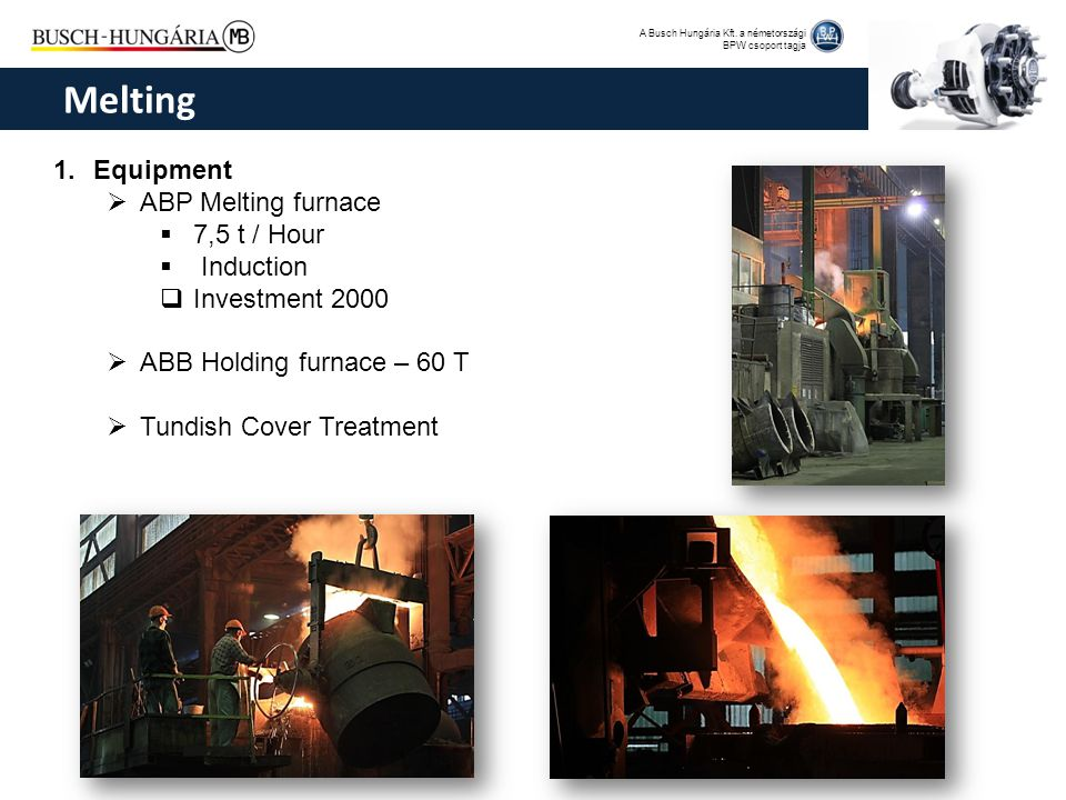 Melting Equipment ABP Melting furnace 7,5 t / Hour Induction