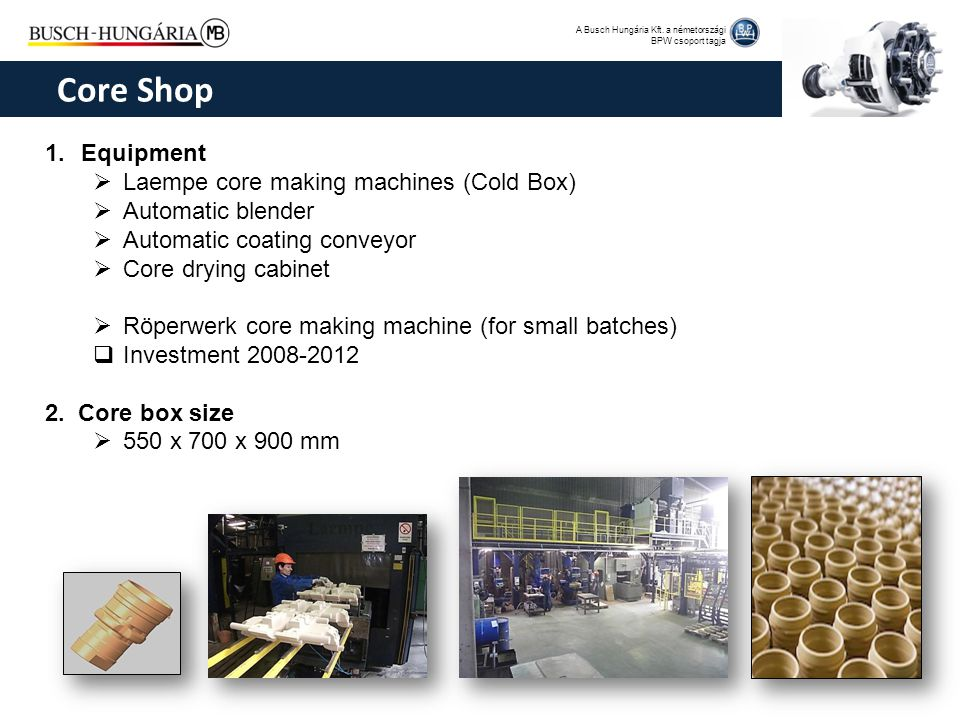 Core Shop Equipment Laempe core making machines (Cold Box)