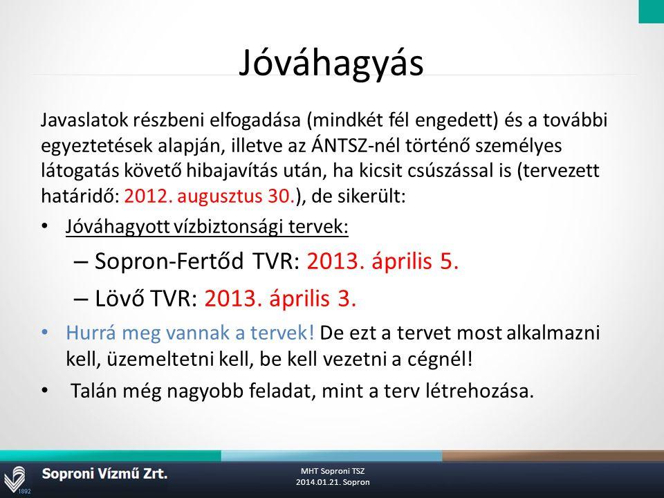 Jóváhagyás Sopron-Fertőd TVR: 2013. április 5.