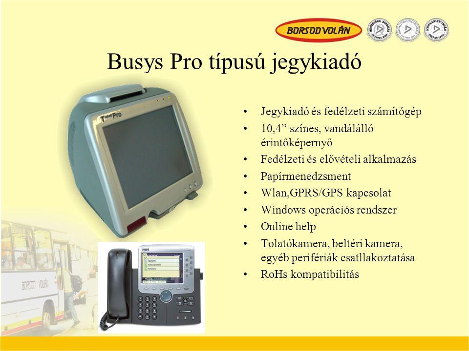 Busys Pro típusú jegykiadó