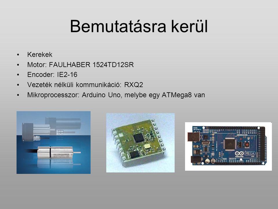 Bemutatásra kerül Kerekek Motor: FAULHABER 1524TD12SR Encoder: IE2-16