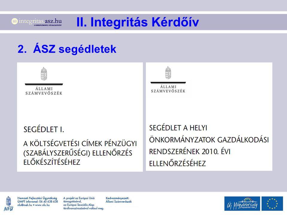 II. Integritás Kérdőív 2. ÁSZ segédletek