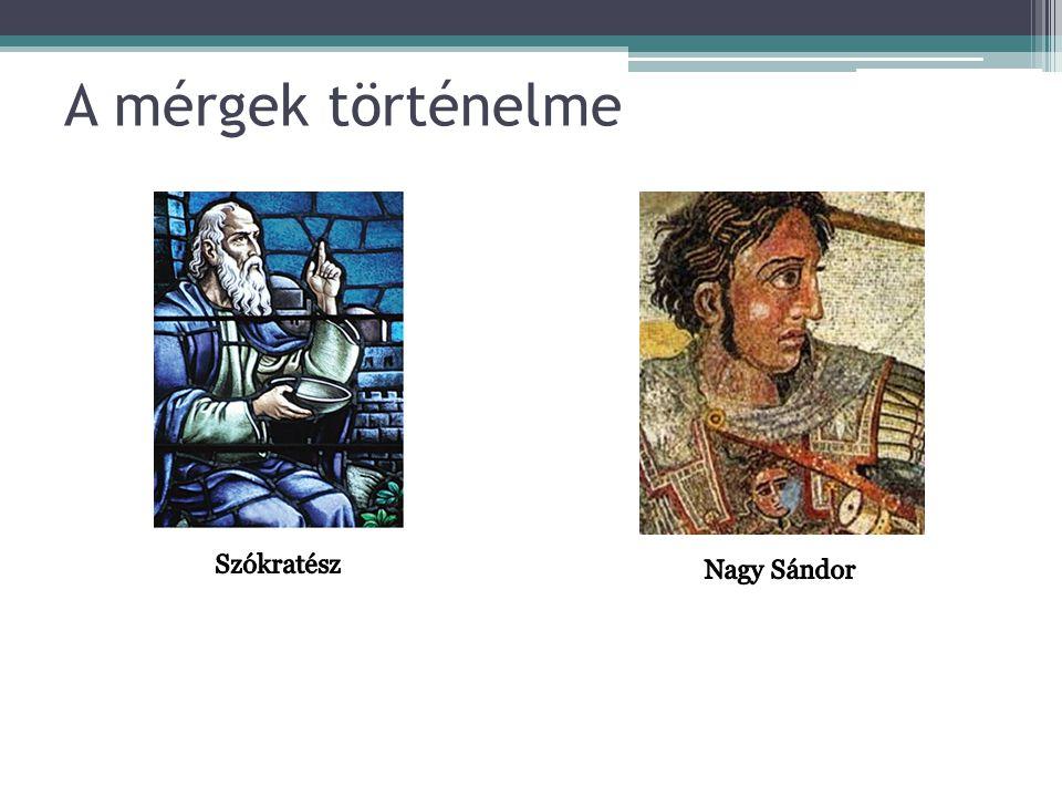 A mérgek történelme Szókratész Nagy Sándor