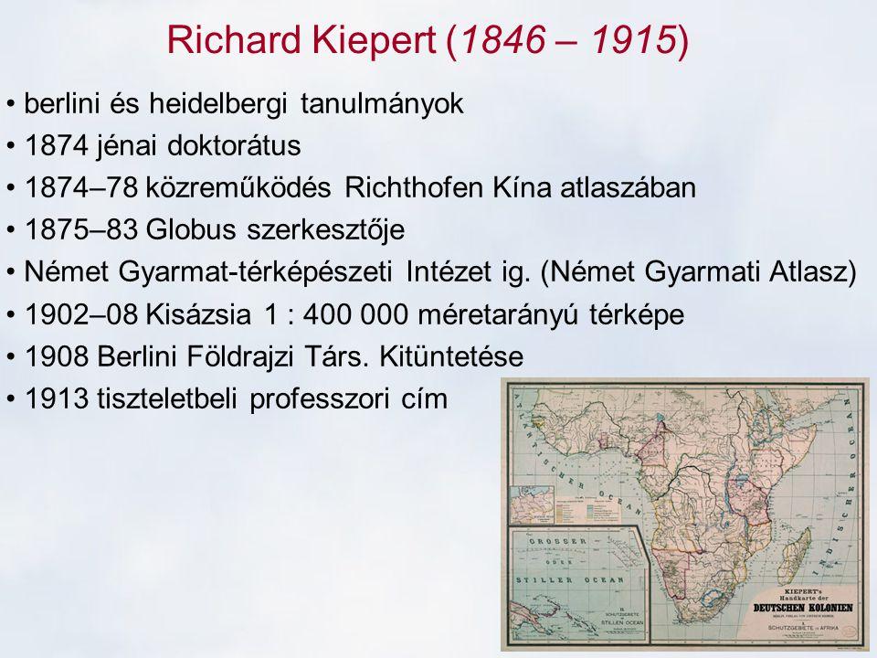 Richard Kiepert (1846 – 1915) berlini és heidelbergi tanulmányok