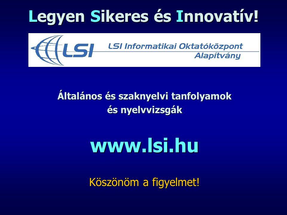 Legyen Sikeres és Innovatív!