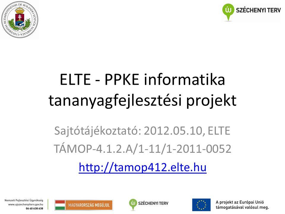 ELTE - PPKE informatika tananyagfejlesztési projekt