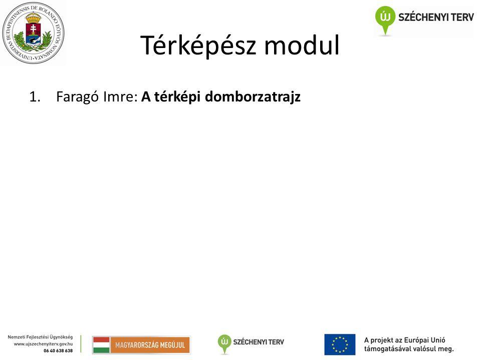 Térképész modul Faragó Imre: A térképi domborzatrajz