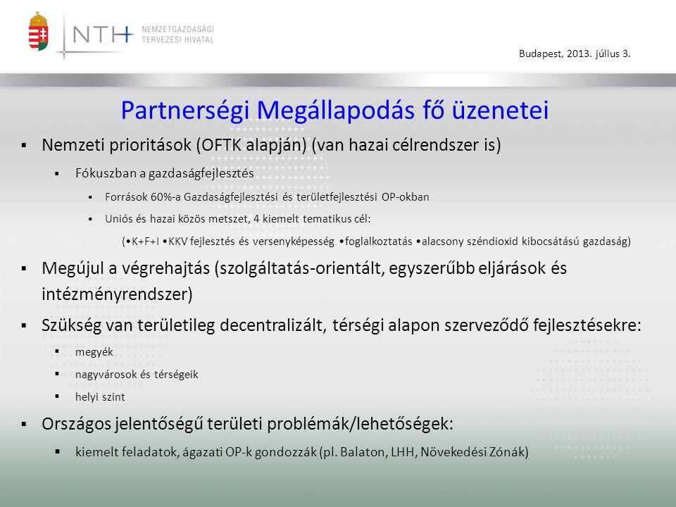 Partnerségi Megállapodás fő üzenetei