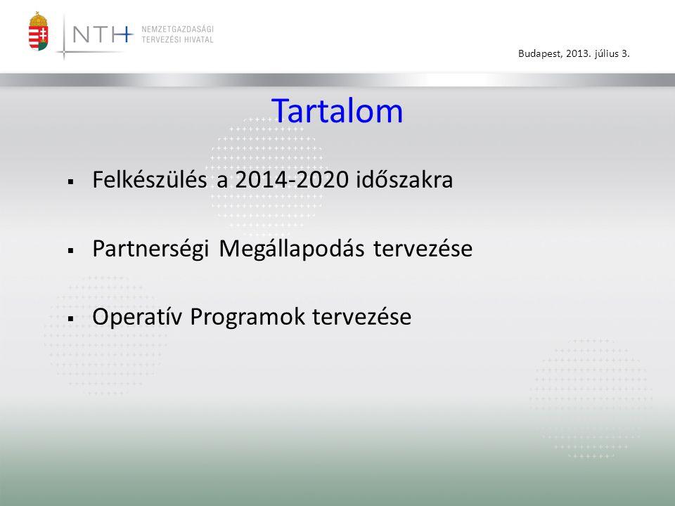 Tartalom Felkészülés a 2014-2020 időszakra