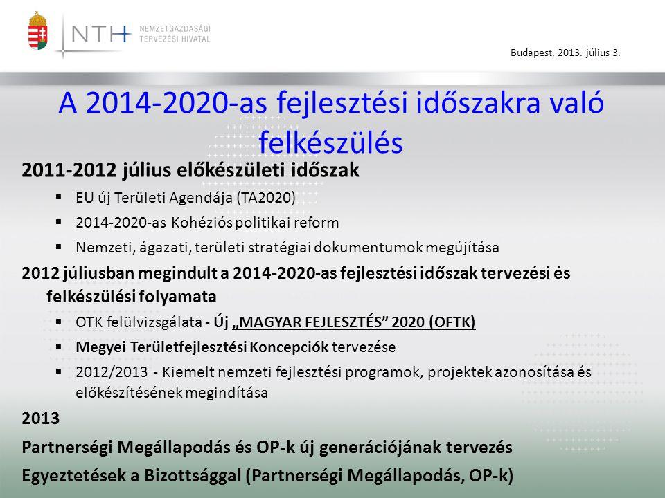 A 2014-2020-as fejlesztési időszakra való felkészülés