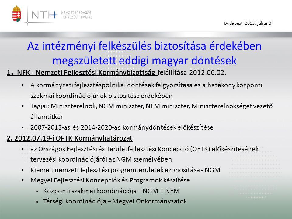 Az intézményi felkészülés biztosítása érdekében megszületett eddigi magyar döntések