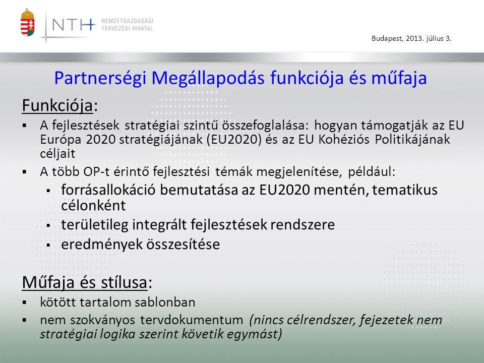 Partnerségi Megállapodás funkciója és műfaja