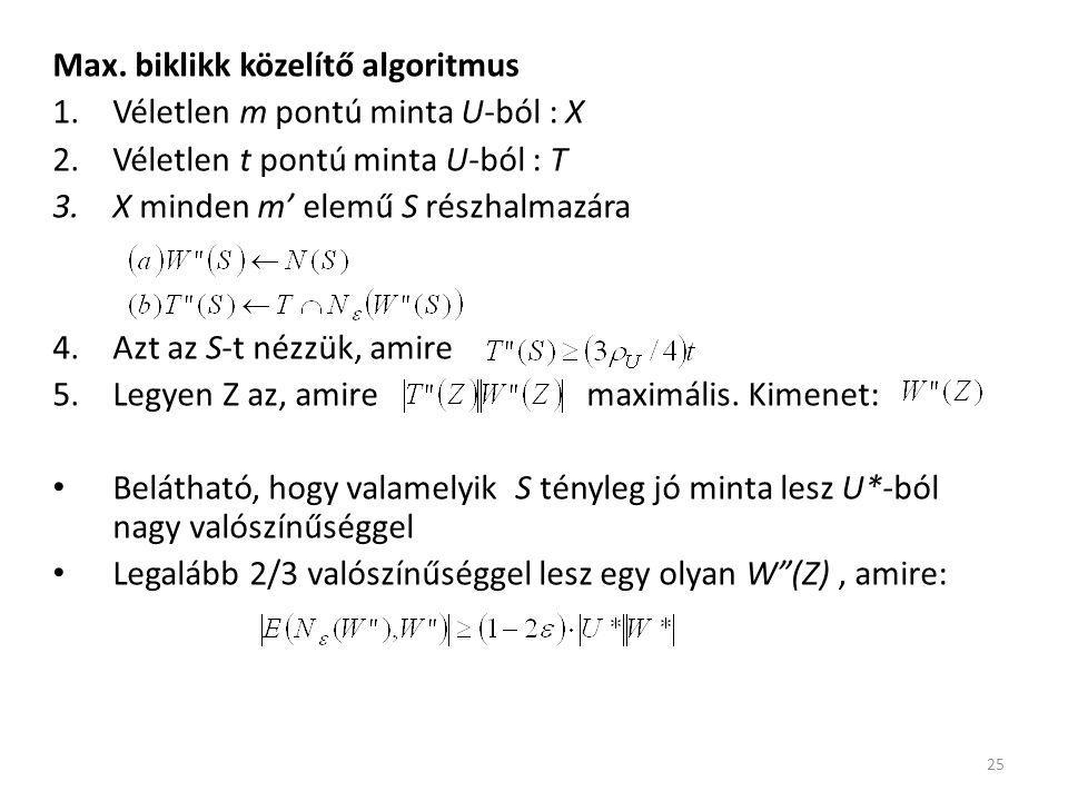 Max. biklikk közelítő algoritmus
