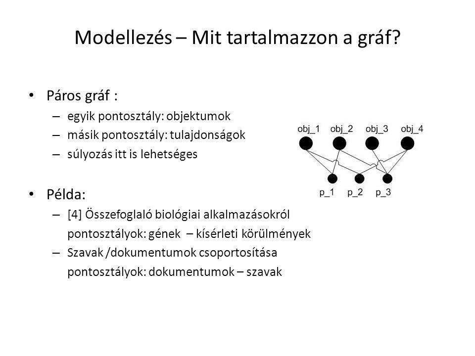 Modellezés – Mit tartalmazzon a gráf