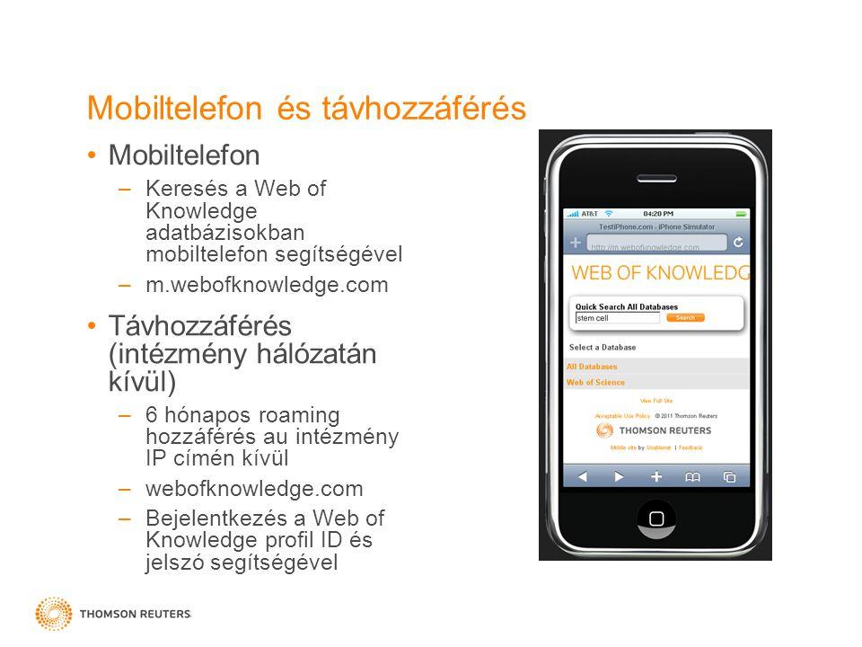 Mobiltelefon és távhozzáférés