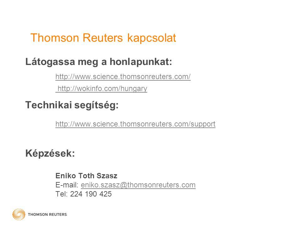 Thomson Reuters kapcsolat