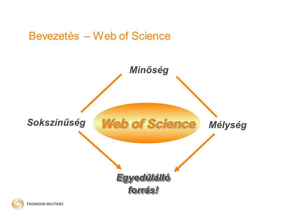 Bevezetés – Web of Science
